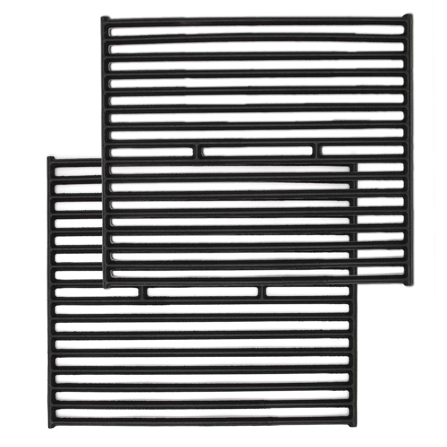VICOOL hyG436B 15'' Matt Cast Iron Cooking Grid Grates for Broil King, Broil-Mate, Sliver Chef, Sterling and Huntington Gas Grills by VICOOL