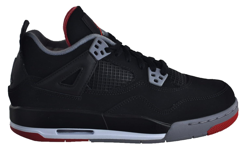 Black, cement grey-fire red Nike Jordan Kids Air Jordan 4 Retro Bg Basketball shoes