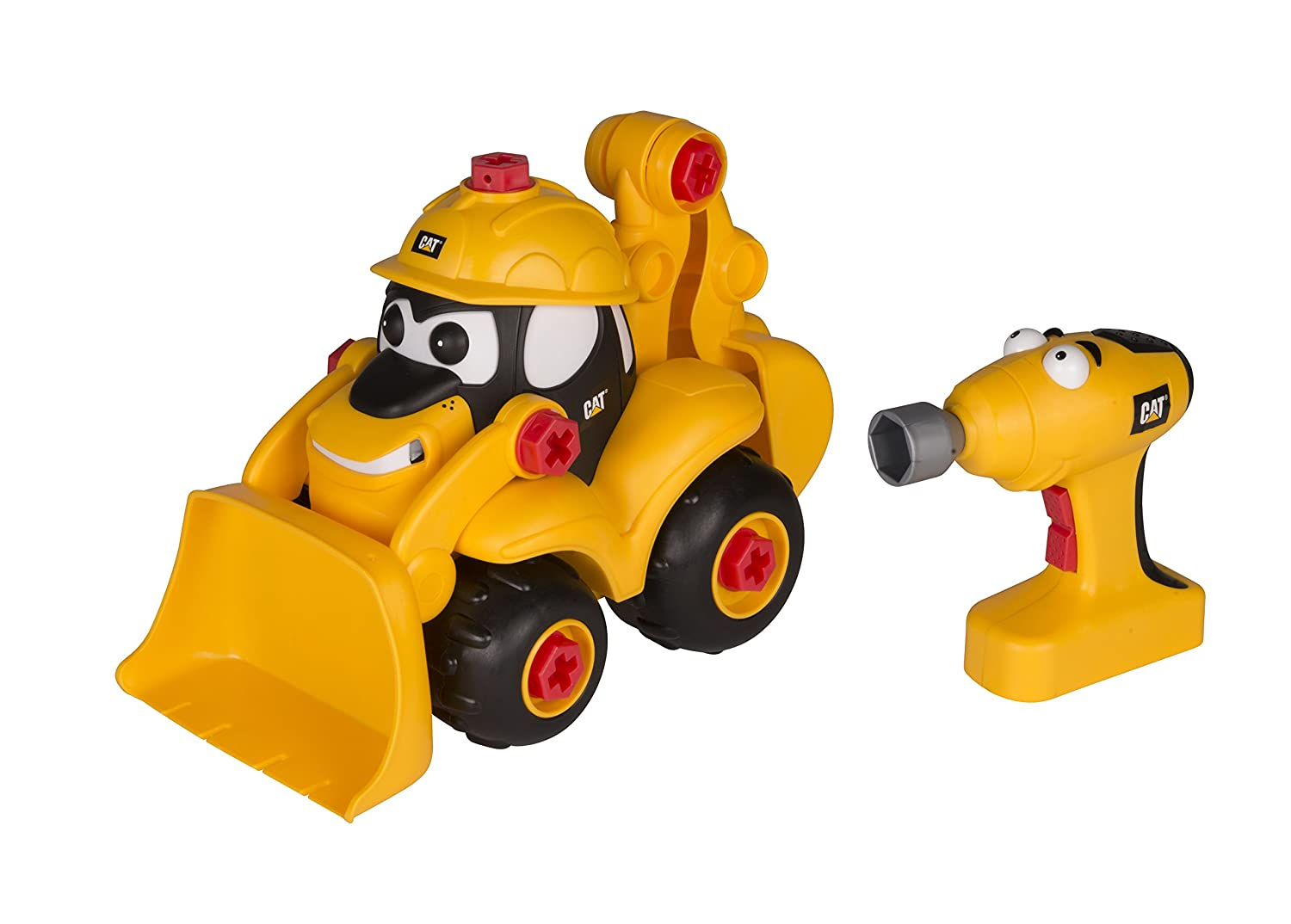 Toy State Caterpillar CAT Buildin Crew Take-A-Part Buddies Movin Morgan Backhoe Light /& Sound Vehicle