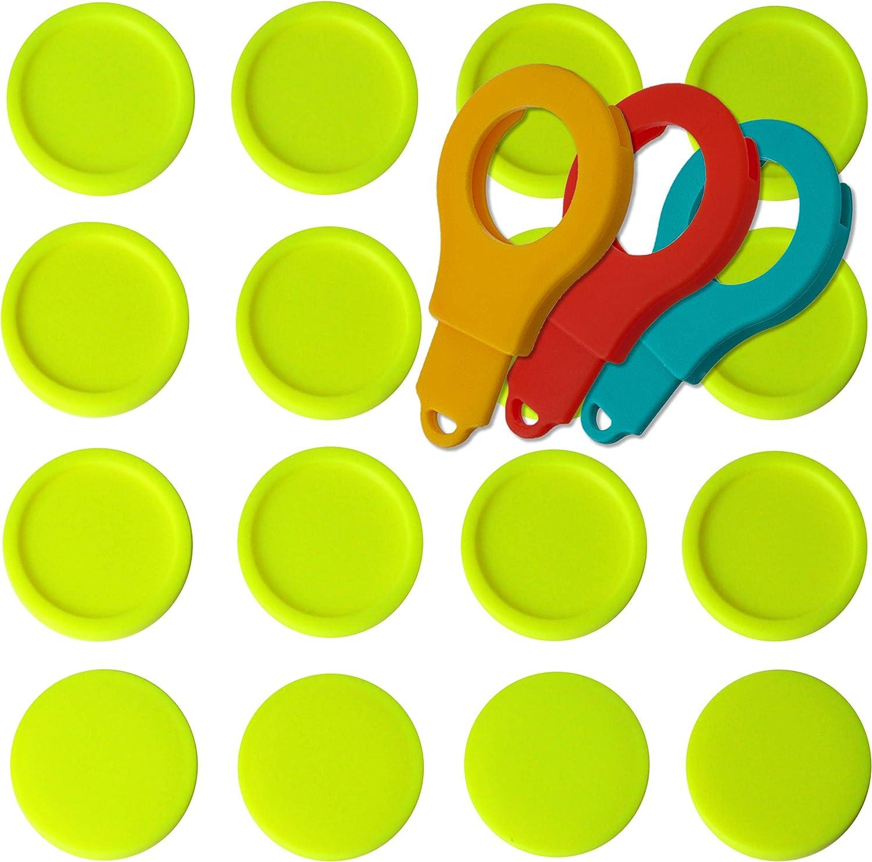 SchwabMarken Fichas para Carro de la Compra EKW2 Fichas Etiquetas Sellos Circulares con 3 portafichas: Amazon.es: Deportes y aire libre
