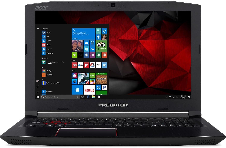 "Acer Predator Helios 300 15.6"" Full HD Gaming Laptop - 7th Gen Intel Core i7-7700HQ Processor up to 3.80GHz, 32GB Memory, 4TB SSD, 6GB Nvidia GeForce GTX 1060 Graphics, Windows 10"