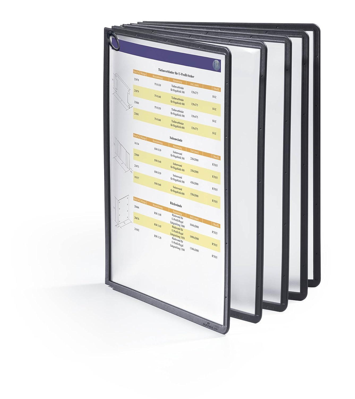 PP 5er Packung gelb Durable 560604 Sichttafel Sherpa Panel A4