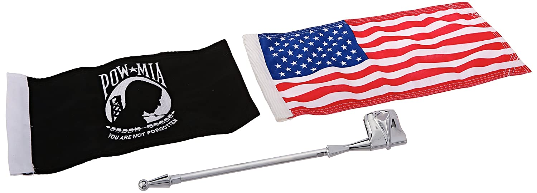 Kuryakyn 4254 1//2 Vertical Flag Mount Kit