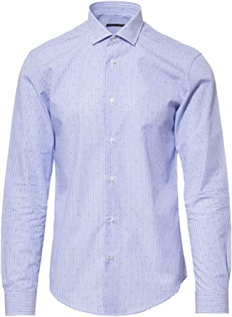 BRIAN DALES Luxury Fashion Hombre BS50ST6726001 Azul Claro Camisa | Temporada Permanente: Amazon.es: Ropa y accesorios