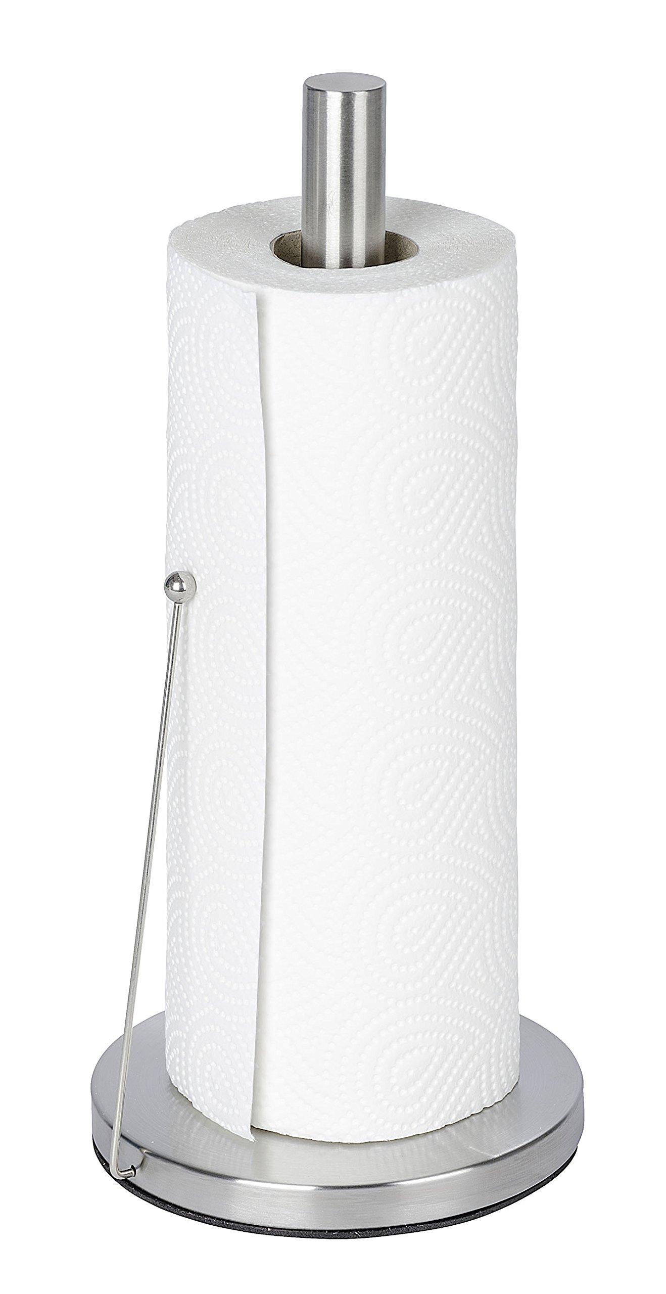 Wenko 53210100 Clayton Porte Essuie-Tout Inox 15,5 x 4,5 x 31,0 cm