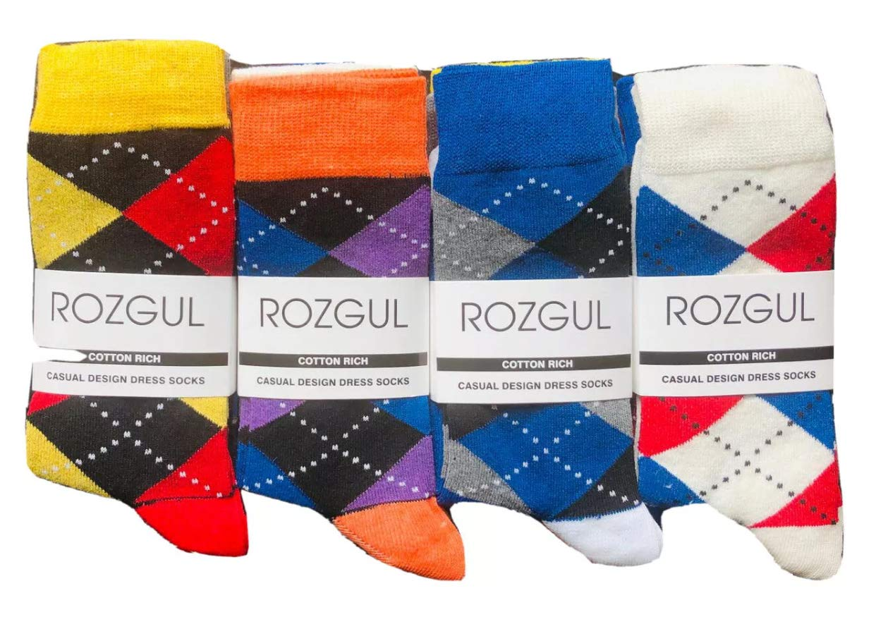 6 And 12 Pairs Designer Mens Socks Cotton Rich Poly Cotton Mens Socks Size 6-11