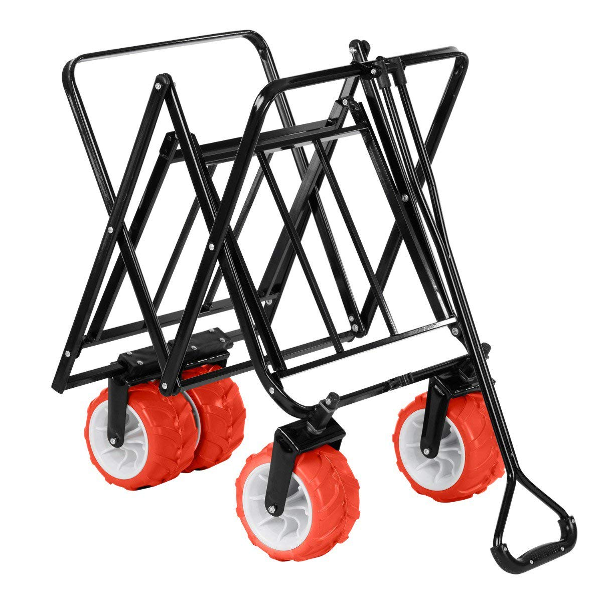 Trail Outdoor Leisure Collapsible Portable Camping Wagon Trolley Folding Wheeled Festival Cart