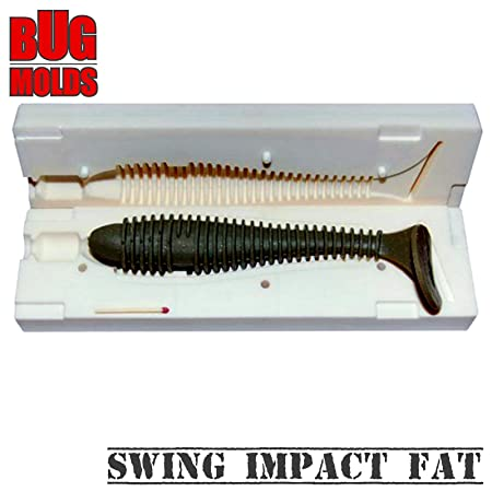 Soft Plastic Lure Mold Swing Impact Fat 2 8 inch V23 DIY