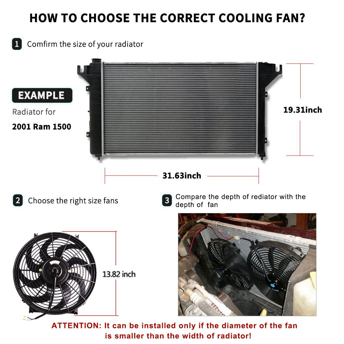 Todo Engine Electric Cooling Fans Radiator Combo Www