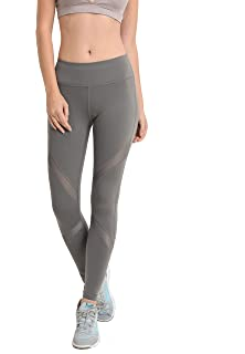 e133b7931dfba Mono B Women's Performance Activewear - Yoga Leggings with Sleek Contrast  Mesh Panels