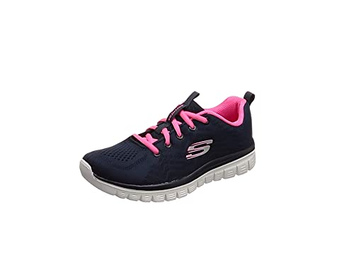 Skechers Graceful-Get Connected, Zapatillas para Mujer, Azul (Navy/Pink)