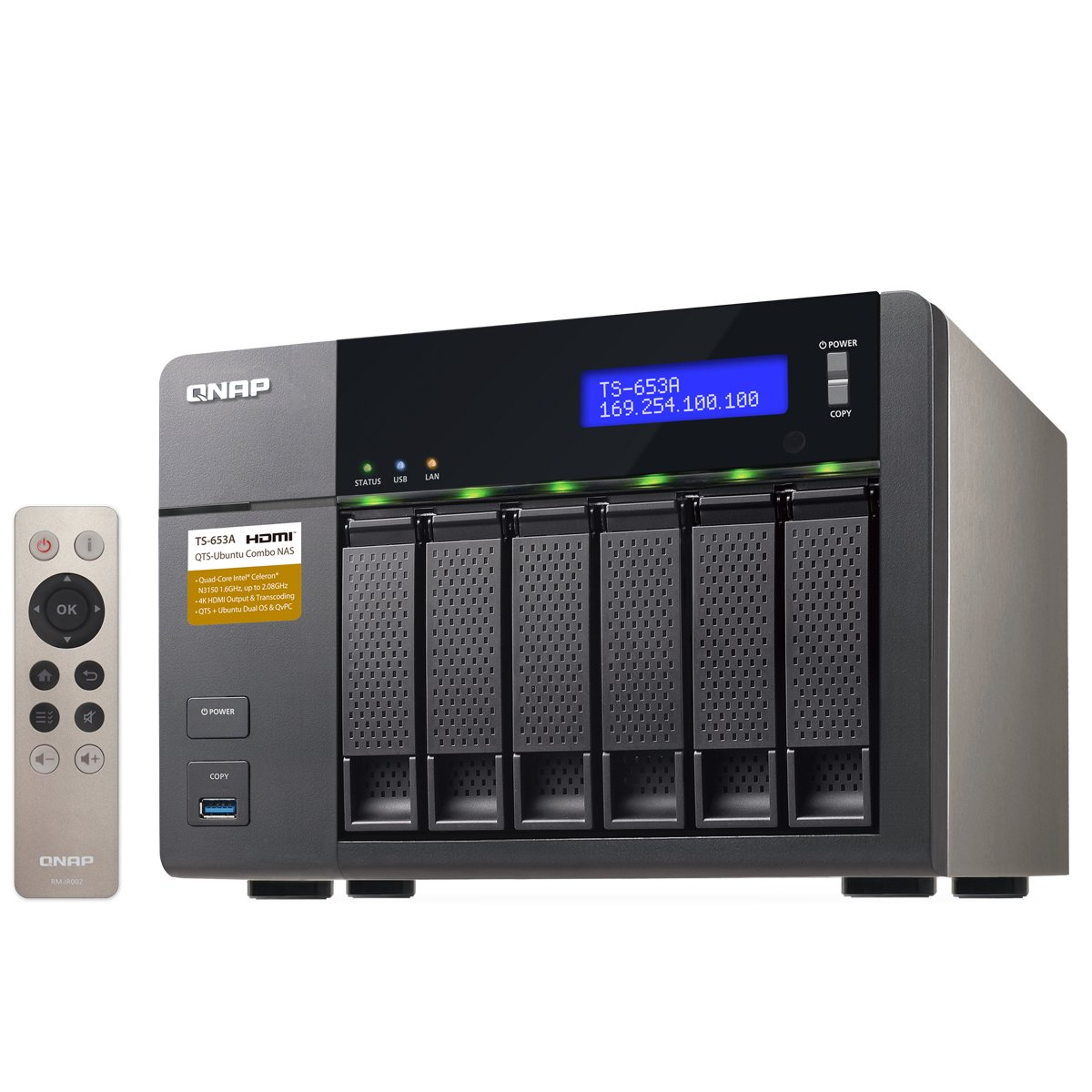 QNAP TS-653A (8GB RAM version) 6-Bay Professional-Grade Network Attached Storage, Supports 4K Playback (TS-653A-8G-US) by QNAP (Image #3)