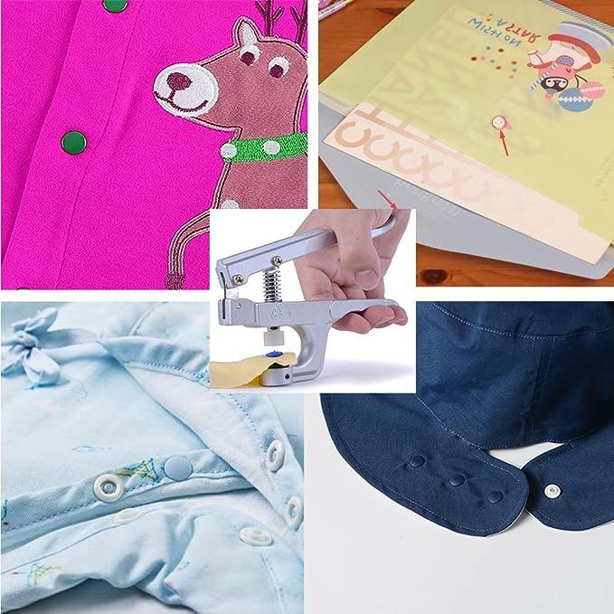 360pcs T5 KAM Snaps Botones de plástico tamaño 20 con Snaps Juego de alicates para prendas de vestir de costura y manualidades: Amazon.es: Juguetes y juegos