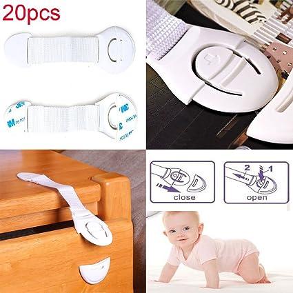 10pcs//20Pcs Cabinet Door Drawers Refrigerator Safety Plastic Lock For Child Kid