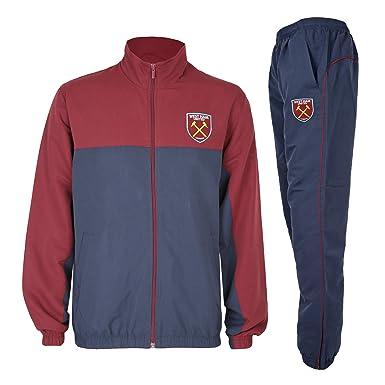 e5ea9f1fc9a8e West Ham United FC - Chándal Oficial para Hombre - Chaqueta y pantalón Largo   Amazon.es  Ropa y accesorios
