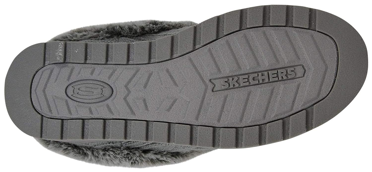 Skechers Damen Keepsakes - Ice Angel Flache Hausschuhe Grau