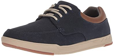 9bdd1cb566b24 CLARKS Men's Step Isle Lace Sneaker, Navy Canvas, 7 Medium US