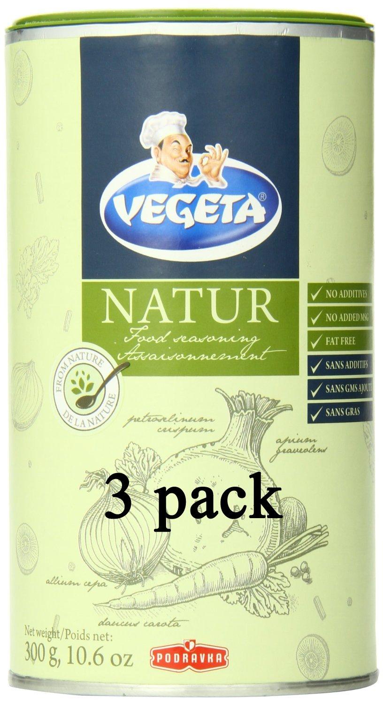 Podravka Vegeta Natur Seasoning, 10.6 oz x 3 (3 pack)