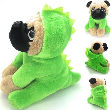 Realistic Pug Stuffed Animal, Amazon Com Joyamigo Pug Stuffed Animal Plush Dog Puppy Soft Cuddly Toy In Costumes Dressed As Dinosaur Super Cute Quality Teddy Plush 10 Inch Toys Games