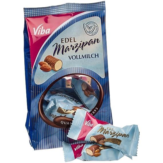 Viba - Bolsa de mini mazapanes con chocolate con leche - 125 g