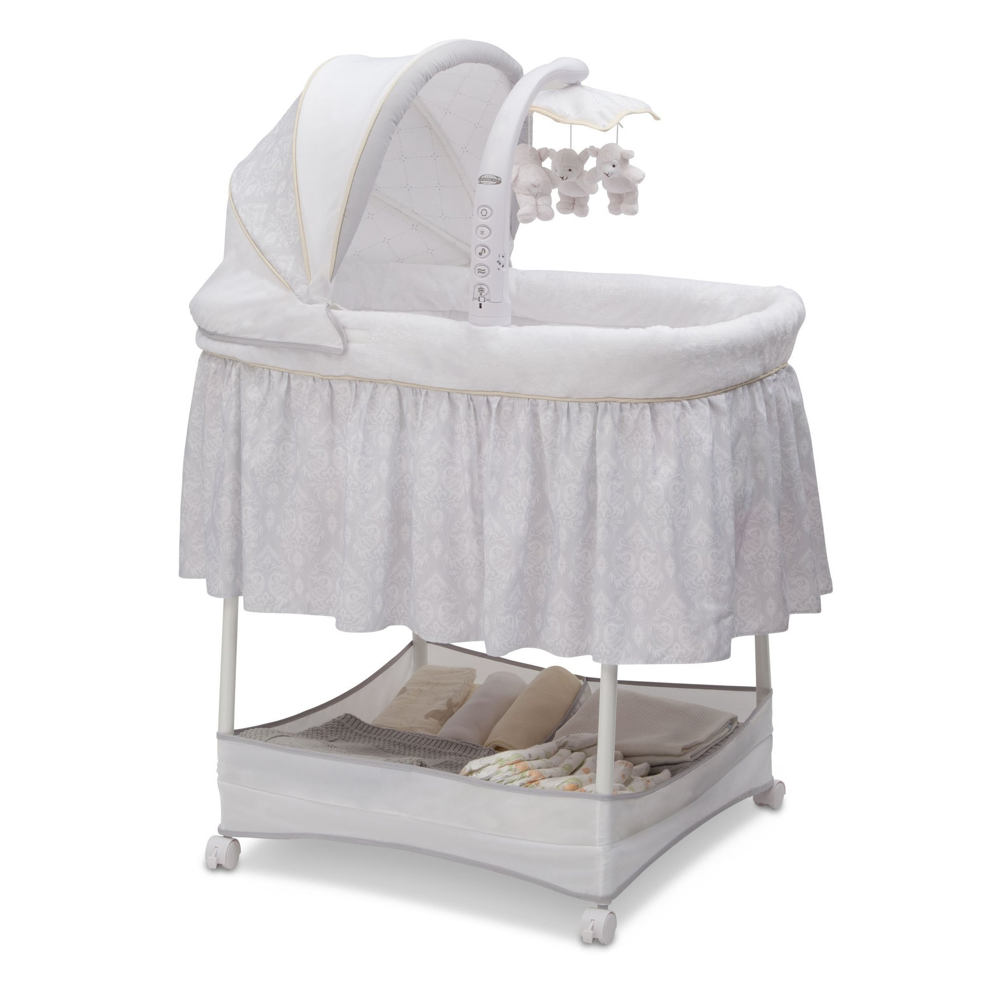 Simmons Kids Gliding Bassinet, Peacock by Simmons Kids