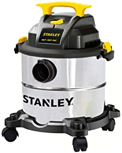 "Stanley SL18115 Wet/Dry Wet Dry Vacuum Steel Tank, 5 gallon/4.0 HP/50"""
