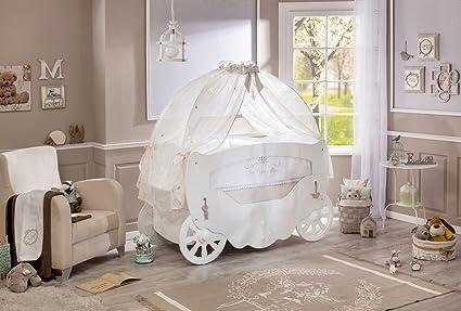 Letto Carrozza Disney : Softy lettino con sponde a forma di carrozza da principessina