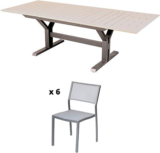 Les Jardins Salon de Jardin - Ensemble Table de Jardin ...
