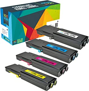Do it Wiser Compatible Toner Cartridge Replacement for Dell C3760dn C3760n C3760 C3765dnf C3765 C3765nf - 4 Pack Extra High Yield