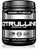 KAGED MUSCLE, Premium L-Citrulline Powder, Enhance Muscle Pump, Improve Muscle Vascularity, Nitric Oxide Booster, Citrulline, Unflavored, 100 Servings