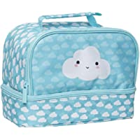 Spencil Cloud Twin Top Lunch Box, Insulated Food Safe, Lunch Bag for Kids,School,Girls