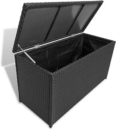 Festnight Arcón de Almacenamiento Impermeable para Jardín 120 x 50 x 60 cm Negro: Amazon.es: Hogar