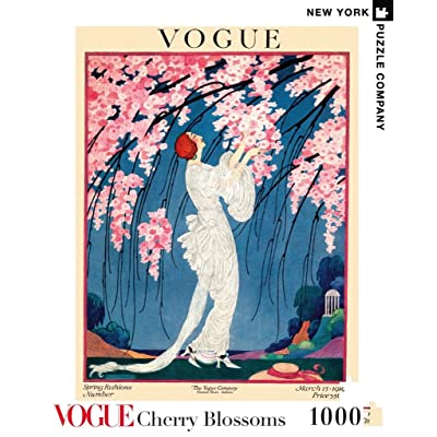 New York Puzzle Company - Vogue Cherry Blossoms - 1000 Piece Jigsaw Puzzle: Toys & Games
