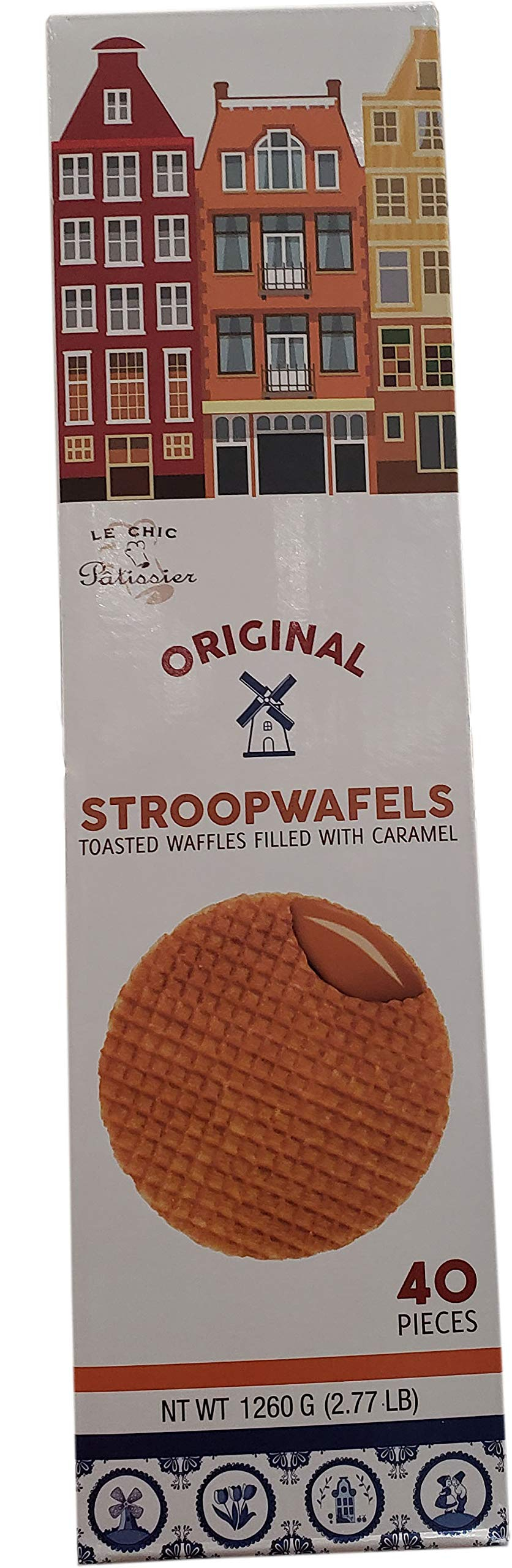 Le Chef Caramel Stroopwafel, 42.4 oz (COST1253037)