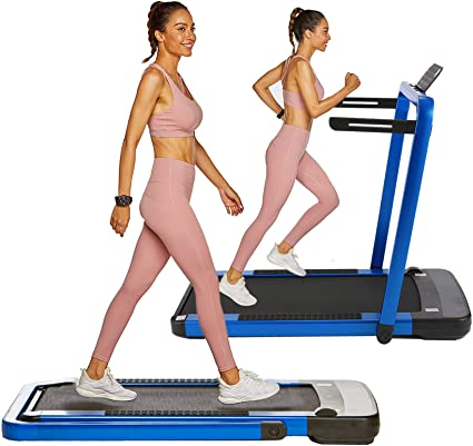 OppsDecor Under Desk Treadmill 2in1 Walking Running Machine Electric Treadmill Folding Pad Treadmill with Remote Control and Bluetooth Speaker for Home /& Office Workout Indoor Exercise Machine