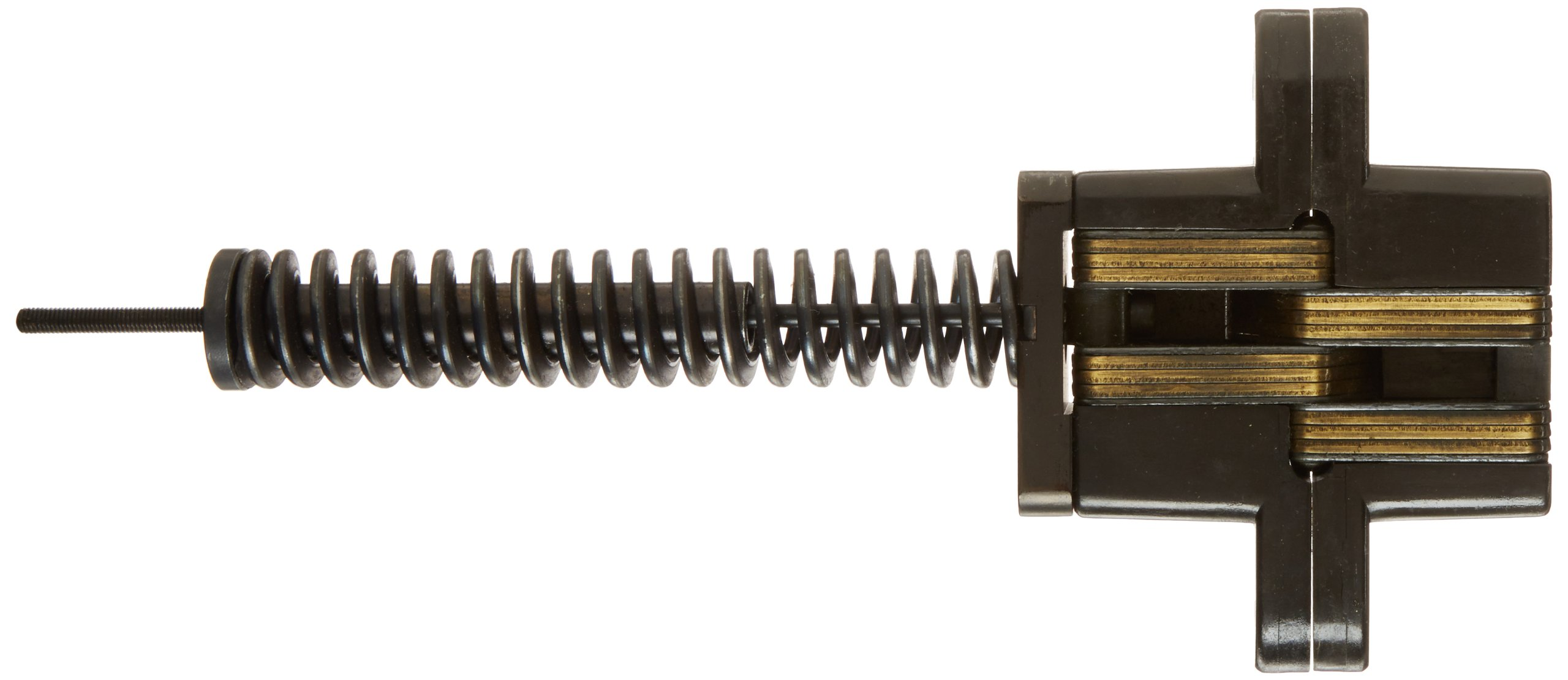 SOSS 218IC Zinc Invisible Spring Closer for 1.75'' Doors, Antique Brass Exterior Finish