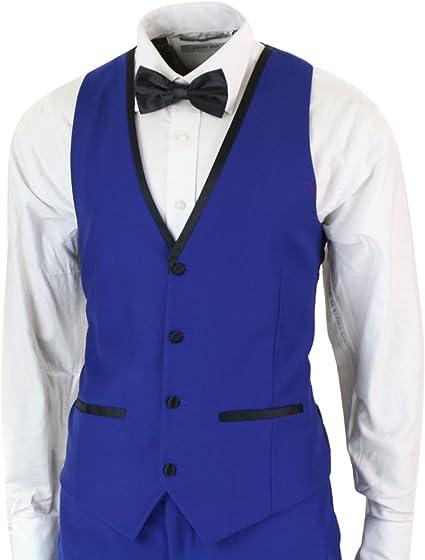 L Grande Piscine Bleu après heures Smoking Gilet Tux Euro Cravate Mariage tuxxman
