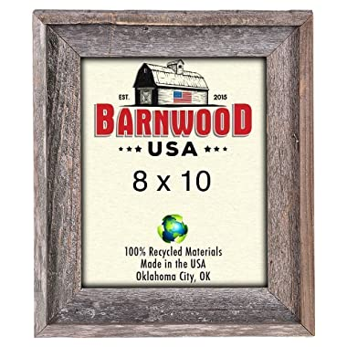 BarnwoodUSA Rustic Farmhouse Signature Picture Frame - Our 8x10 Picture Frame can be Mounted Horizontally or Vertically and is Crafted from 100% Recycled and Reclaimed Wood | No Assembly Required