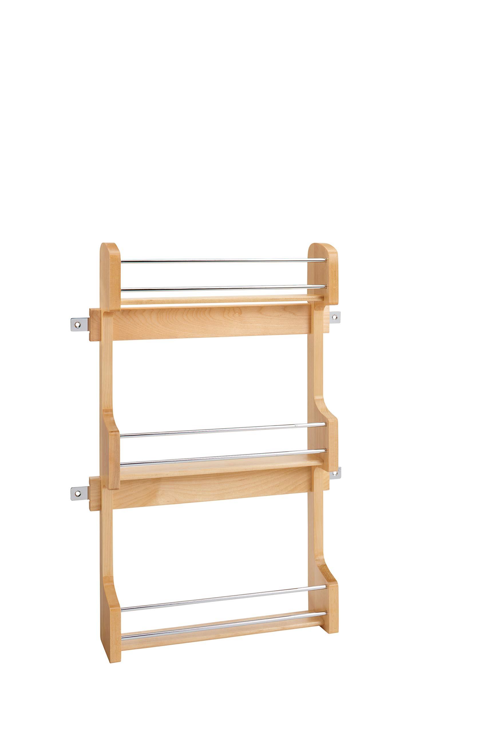 Rev-A-Shelf - 4SR-18 - Medium Cabinet Door Mount Wood 3-Shelf Spice Rack by Rev-A-Shelf