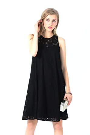e9b069d4cc UP Ultrapink Missy Black Classy Allover Lace Sleeveless Trapeze Dress Must  Have, small