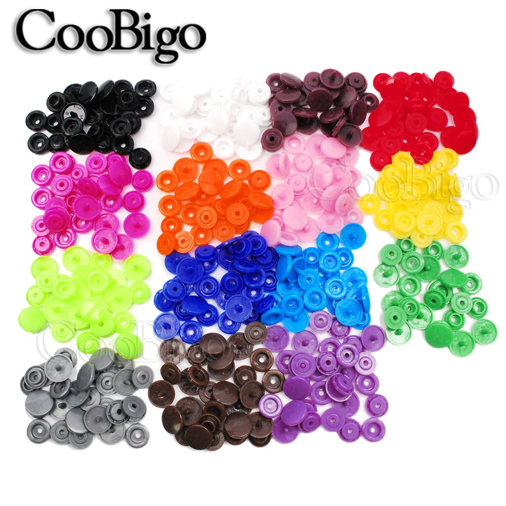 Round Plastic Snaps Buttons Fasteners Quilt Cover Sheet Button Garment Accessories For Baby Clothes Clips Backpack Bags Kits 150sets T5 150set Mixed Colors 12mm