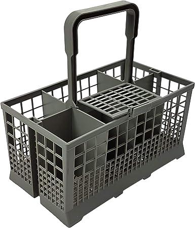 Cesta universal para cubiertos, apta para muchos lavavajillas, tamaño: 240 x 140 mm, plástico gris: Amazon.es: Bricolaje y herramientas
