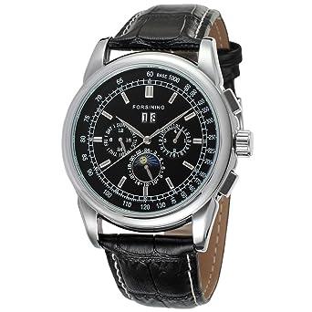 forsining automático para hombre movimiento Fase de la luna pantalla reloj de muñeca lujo fsg319 m3s1: Amazon.es: Relojes