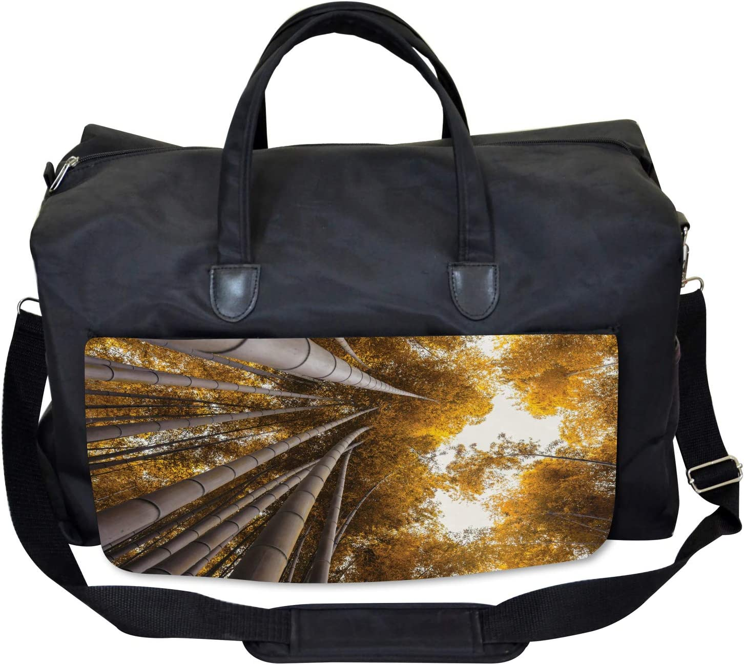 Large Weekender Carry-on Fall Landscape Bamboo Ambesonne Asian Gym Bag