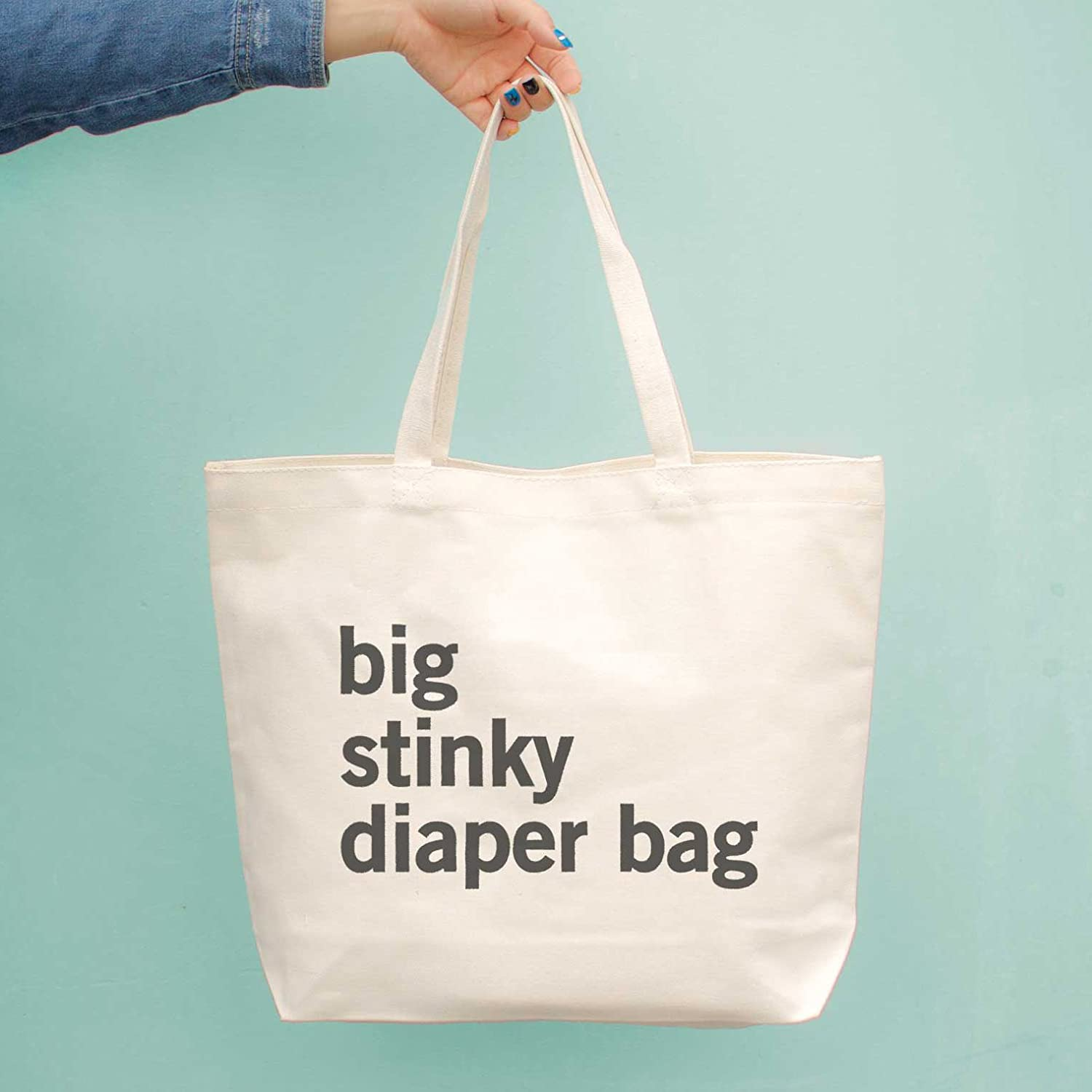 Love Women S Big Stinky Diaper Bag Baby Shower Or Mother S Day Gifts For New Mom Canvas Bag One Size White Amazon Co Uk Luggage