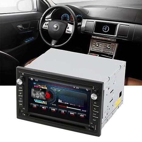 Reproductor de DVD GPS para Coche 2 DIN, Radio estéreo, GPS, Bluetooth,