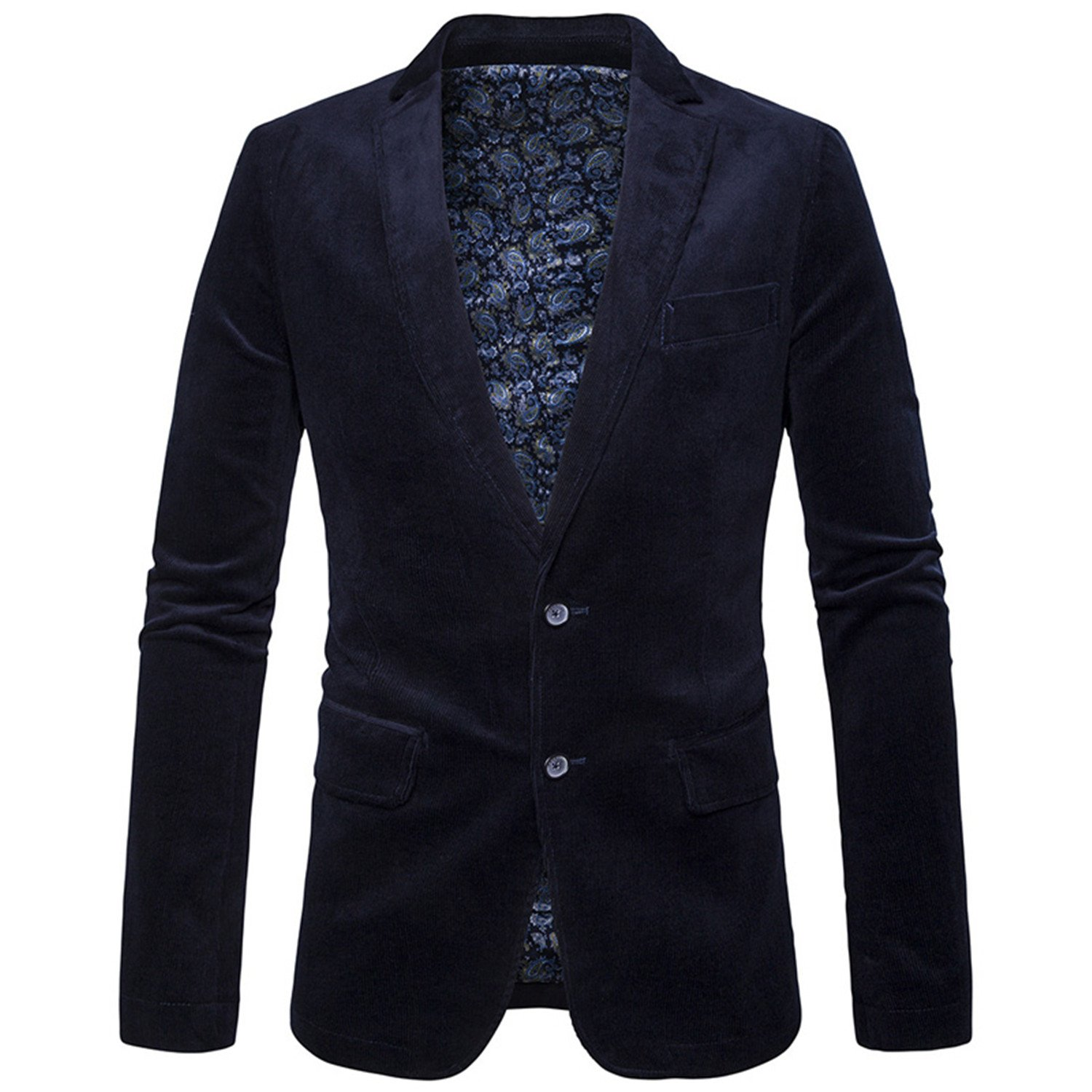 Single Breasted Two Button Corduroy Dress Suit Jacket Blazer 2018 Casual Party Business Work Men Blazers 3XL at Amazon Mens Clothing store: