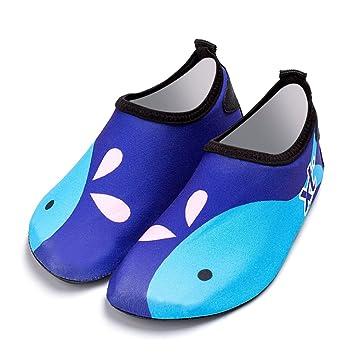 acab6ebb1 Bmeigo Zapatos de Agua Calzado Aqua Calcetines de Playas Descalzos Secado  rápido para Niños Niñas Natación Buceo Surf Hiking Canotaje Piscina de  Buceo: ...