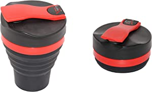 Fitness Shaker, Collapsible, Silicon Blender with Powder Blend Grind, 17.6-Ounce