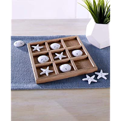 LCI Coastal Tic-Tac-Toe Board Game Set: Home & Kitchen